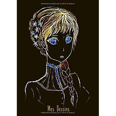 Mes Dessins: A4 - 100 pages de papier vierge - Journal d'artiste / Journal créatif / Bloc à dessin / Bloc-notes / Fille - Steampunk / Manga