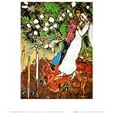 Reproduction d'art 'Les trois bougies', de Marc Chagall, Taille: 25 x 30 cm