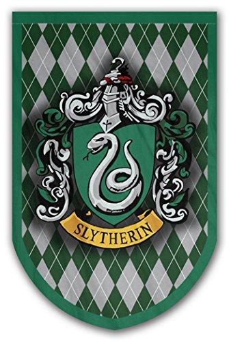 Harry Potter Stil Banner-Slytherin Flagge 94x 61cm-beidseitig bedruckt-langlebig genug für Außerhalb Bedingungen-Perfekt-Man Cave Geschenk-Einzigartiges HP Sammlerstück - Hewlett Packard Kostüm