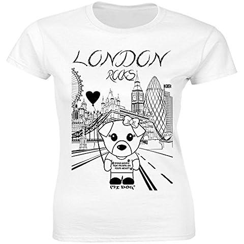 Brooklyn Nueva York Hierro urbana Shaolin hombres de Mike Tyson Inspirado equipada T Shirt, White