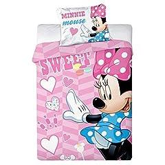 Idea Regalo - Minnie Bebè Biancheria da Letto Mouse | Cotone | 100 x 135 cm | Bambino