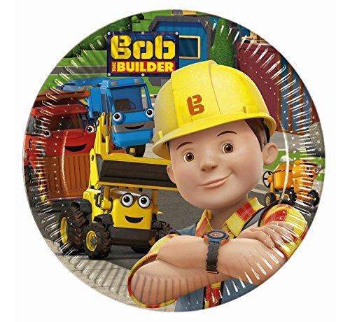 Procos 8 x Bob der Baumeister Pappteller - Medium 20cm