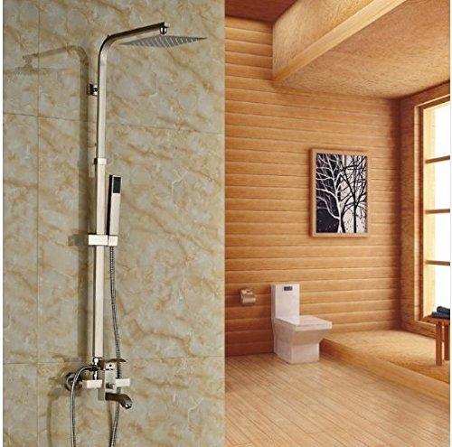 Gowe Nickel Gebürstet Wand montiert Badewanne Wasserhahn mit Hand Sprayer Dusche Wasserhahn Set (Gebürstetem Nickel Finish Wall)