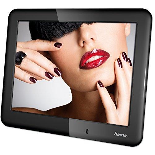 Hama Digitaler Bilderrahmen Slimline Basic (20,32 cm (8 Zoll), SD/SDHC/MMC-Kartenslot, mit Nachtmodus, Uhr und Kalender) schwarz