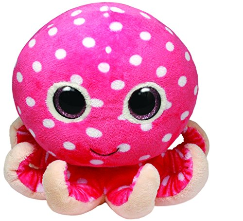 "Beanie Boo Octopus - Ollie - Pink - 15cm 6"""