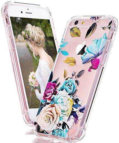 Coque iPhone 7, LUOLNH Absorption des chocs TPU Bumper Protection Goutte ,Résistant aux rayures pour Apple iPhone 7 Silicone Étui Housse Protecteur -Multicolor ananas bleu Rose