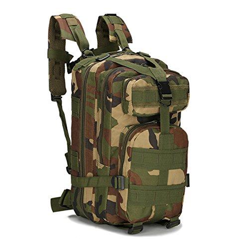 Bai Sie Mei Multifunktionale Camouflage Schultern Tasche, Outdoor Bergsteigen Rucksack, Mehrzweck Daypacks, Rucksack, Tactical Military Sportpack, Camping Wandern und Angeln 25L Pattern02