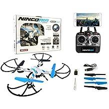 Ninco Drone radiocontrol con cámara modelo Quadrone Sport Wifi FPV. Control inteligente de orientacion y retorno automatico a la posición del piloto.