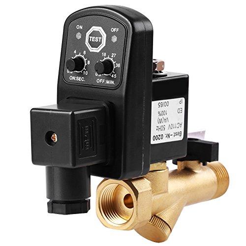 G1 / 2 DN15 Automatische Elektronische Zeitgesteuerte Ablassventil Lufttank Wasser Feuchtigkeit für Luftkompressor Kondensat-Management, integrierte Ventil(AC230V) (Automatisches Ablassventil)