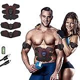 [2018 neue Version] TZLong ABS Stimulator & Muscle Toner-Bauchstraffung Gürtel & EMS Körper Muskel Trainer Fat Burner Equipment-6 Modi & 9 Grade Stimulus Intensity-Portable USB Charger