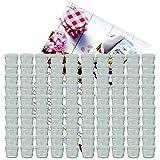 100er Set Sturzglas 230 ml Marmeladenglas Einmachglas Einweckglas To 82 weißer Deckel incl. Diamant-Zucker Gelierzauber Rezeptheft