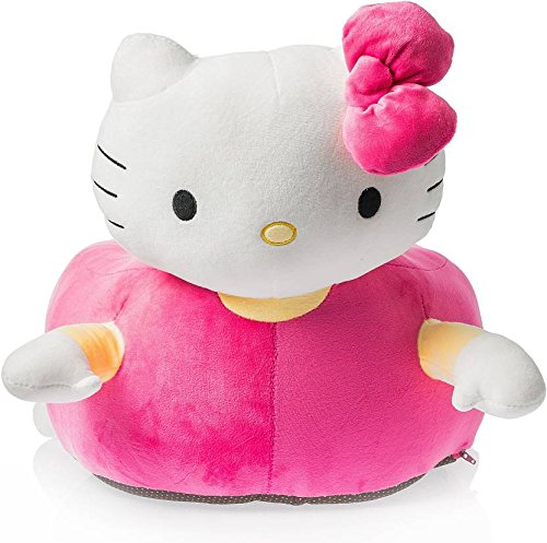 Dimpy Stuff Baby Kids Animal Kitty Tom Jerry Tweety Elephant Monkey Dinosaur Plush Seat Chair 75 cm - Edu Toys (Hello Kitty - Pink)