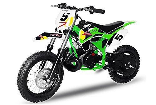 Preisvergleich Produktbild Dirtbike NRG50 GT 49cc 12/10 | Cross Enduro Pocket Bike Quad (Grün)