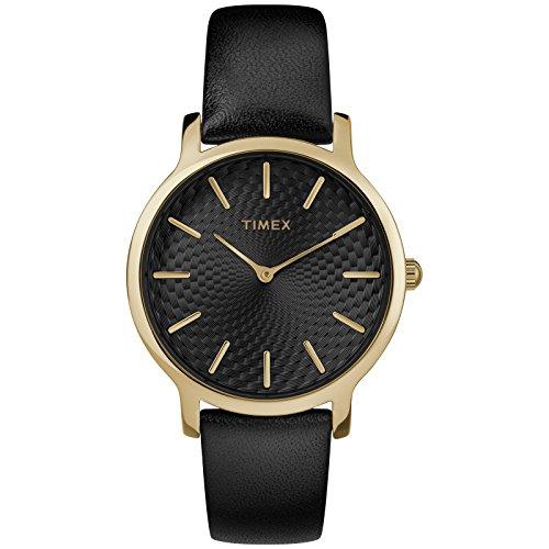 Timex Skyline Orologio Analogico Quarzo Donna con Cinturino in Pelle TW2R36400