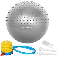 GYMBOPRO Exercise Ball with Quick Pump,Anti-Burst & Anti-Slip Yoga Ball,Home Desk Chairs Balance Ball for Fitness Pilates Yoga Gym