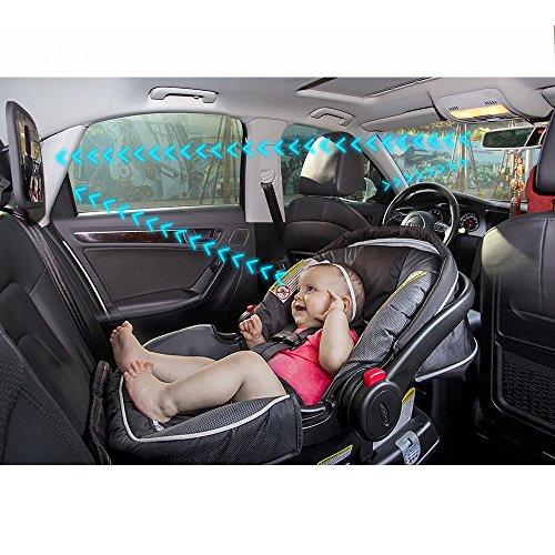Comprar sunluxy espejo retrovisor para vigilar al beb en el coche correas de sujeci n - Espejo coche bebe amazon ...