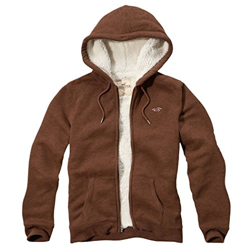 hollister-homme-textured-sherpa-lined-hoodie-sweat-a-capuche-sweatshirt-longue-taille-m-marron-62477