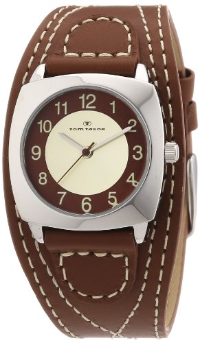 Tom Tailor - 5409903 - Montre Femme - Quartz Analogique - Bracelet Cuir Marron