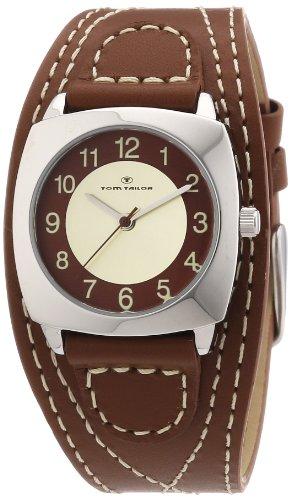 TOM TAILOR Damen-Armbanduhr XS Analog Quarz Leder 5409903