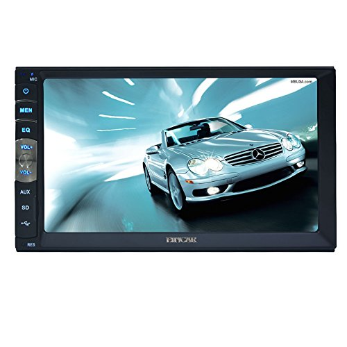 EinCar Doppel Din im Schlag-kapazitiver Touch Screen Auto Stereo-7-Zoll-TFT-FM Radio Car Kit Bluetooth Car Video USB / TF-AV-Eingang Auto MP5-Player-Unterst¨¹tzung Spiegel Link for Android-Handy mit - Touchscreen Car Kit Radio