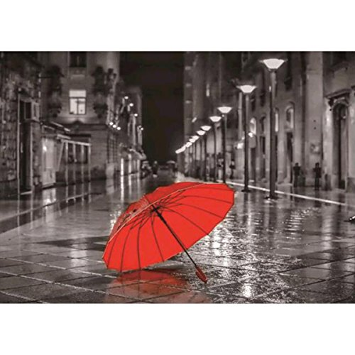 DIY 5D Diamond Painting, Crystal Rhinestone Embroidery Pictures Arts Craft for Home Wall Decor Red Umbrella 11.8 x 15.7