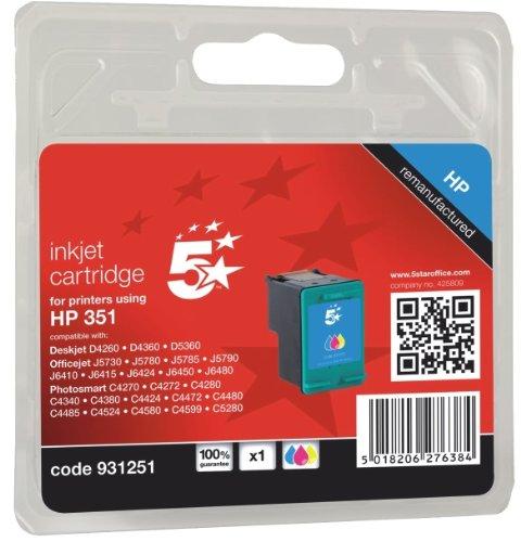 5 Star 931251 Compatibile per HP CB337EE 351 Cartuccia Inkjet, Multicolore