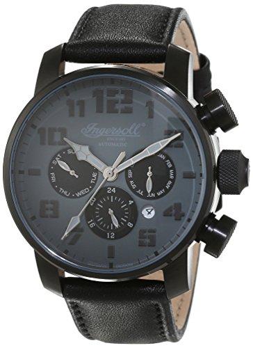 Ingersoll Herren-Armbanduhr Colby Chronograph Automatik Leder IN1224BKGY