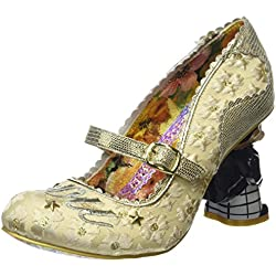 Irregular Choice I Love You, Damen Pumps, Mehrfarbig (Off White/Gold), 41 EU
