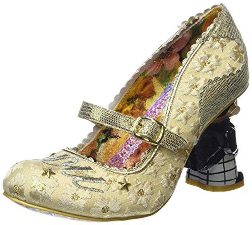 Irregular ChoiceI Love You - Scarpe con Tacco donna, Multicolore (Bianco/Oro), 36 2/3