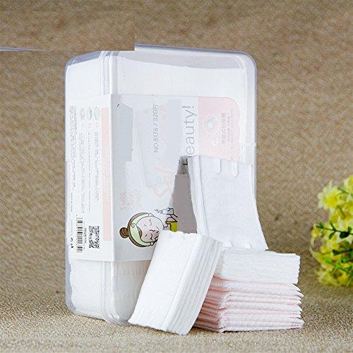Makeup Natürliche Cottton kosmetische Auflagen-hohe Qualität fusselfreie Gesichtsverfassungs-Remover-Reinigungs-Baumwolle (appr.320pcs) FGVBHTR - Natürliche Remover
