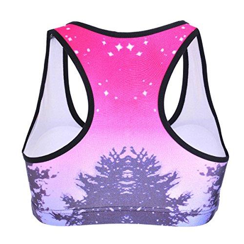 WKAIJCC Femme Gilet Sport Soutien-gorge Sous-vêtements Sans Anneau En Acier Sans Trace Camouflage Numérique Imprimé Yoga B