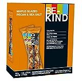 BE-KIND Snack al gusto di Noci Glassate allo Sciroppo d'Acero e Sale Marino - Barretta Senza Glutine - 12 barrette x40g