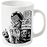 2000AD Judge Dredd Death Official New White Boxed Mug