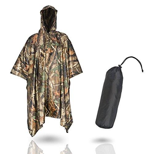 ALETRO | Multifunktionaler Regenponcho – Hochwertiges wasserdichtes PVC Material – Ideal für Damen und Herren zum Wandern und Fahrrad fahren - Mit schickem Beutel
