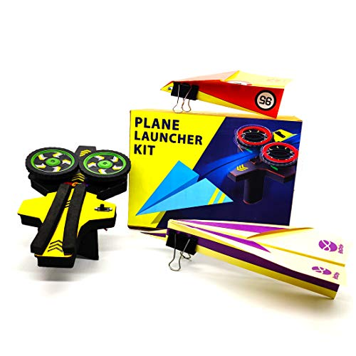 STEM kit Be Cre8v Plane Launcher DIY Educational Toy kit for Kids Over 7 Years, Science lab Project, aeromodelling kit, Flying Plane kit, DIY Electronics, Educational Toy