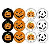 Marico Nahum Halloween Wandaufkleber, Halloween Kürbis Aufkleber DIY Dekoration, 120pcs Verpackungs...
