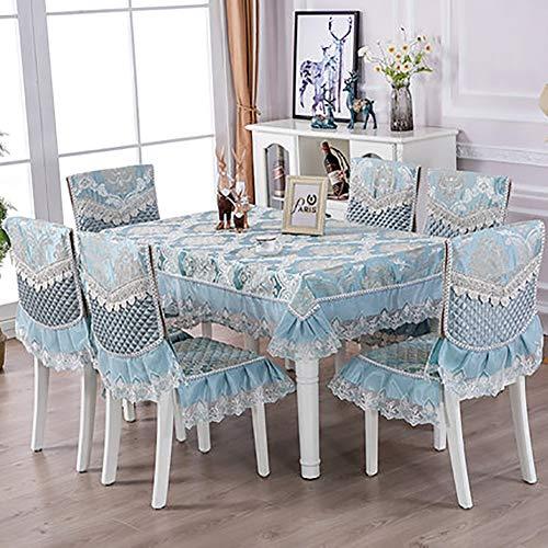Fgjhdyjhgvk cvb la tovaglia e i coprisedie copertura della sedia set di cuscini di seduta semplice tovaglia da tè domestico cotone e lino copritavolo lavabile (coprisedile escluso),22,130 * 130cm