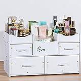 JEssie organizadores cajas de almacenamiento de madera cosméticos para joyería peines pendientes maquillaje accesorio pestaña rizador cepillos esmalte de uñas lápiz labial de control remoto 300x170x250mm (E)