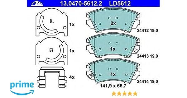 Scheibenbremse 13.0460-5612.2 für CHEVROLET OPEL SAAB ATE Bremsbelagsatz