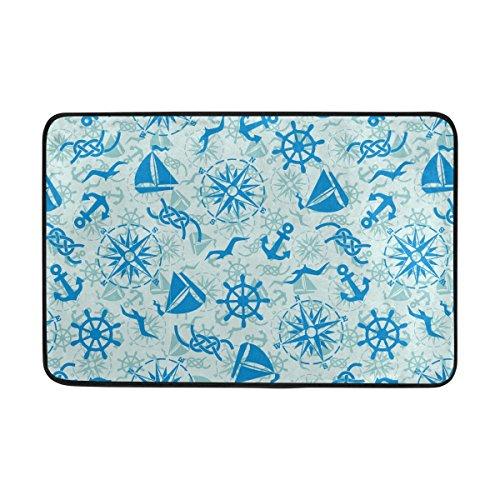 Coosun nautische Marine Muster Fußmatte, Eintrag Weg Indoor Outdoor Tür Teppich mit rutschfesten Rücken, (23,6 von 15,7-Zoll) (Marine-indoor-outdoor-teppich)