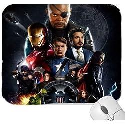 2 A 2 de Los Vengadores de Marvel Age Of # Ultron de Capitán América con una foto de, Hulk, Iron Man, Thor de goma gruesa para alfombrilla de ratón con tacto suave
