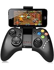 PG-9021 Recargable Multimedia Bluetooth Controlador con Soporte Telescópico para iPhone / Android Smartphone Tableta PC (Negro PG-9021)