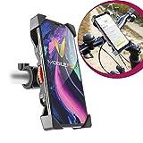 Mobilefox 360° Fahrrad Lenker Halterung Verstellbare Handy Lenkstange Halter Drehbar Smartphone Klemmhalterung für Apple iPhone X 8 7 6 5 S C SE Plus