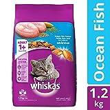 Whiskas Adult Dry Cat Food, Ocean Fish flavour – 1.2 kg Pack