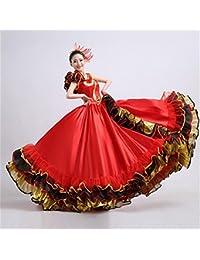 peiwen Mujer española taurina Rojo Falda Grande Rendimiento de la Danza de  la Etapa 814830da928d