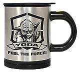 STAR WARS Yoda Feel The Force Auto-mélangeuse Mug, Argent