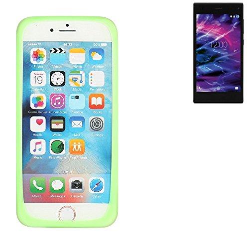 K-S-Trade Für Medion Life P5005 Silikonbumper/Bumper aus TPU, Grün Schutzrahmen Schutzring Smartphone Case Hülle Schutzhülle für Medion Life P5005