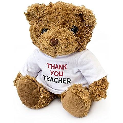 Teacher-Thank You-Orsetto di peluche da coccolare, ideale regalo, motivo: