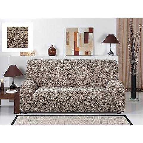 Funda de Sofa Elástica RUSTICA, 3 plazas (180 a 240Cm). Color Marrón