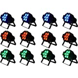 #3: Anoralux LED PAR Stage Lights 12 x 2 W LED RGB 8 colors in 1 Stage Lighting DMX-512 Stage Light for Disco Party DJ Club